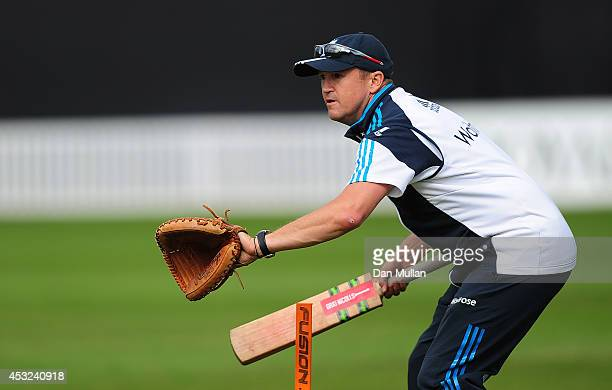 Andy Flower Head Coach of England Lions looks on ahead of the Triangular Series match between England Lions and Sri Lanka A at The County Ground on...