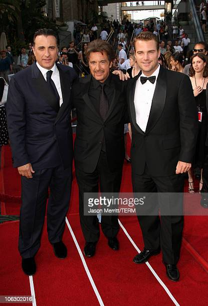 Andy Garcia Al Pacino and Chris O'Donnell during 35th Annual AFI Life Achievement Award Honoring Al Pacino Arrivals at Kodak Theatre in Hollywood...