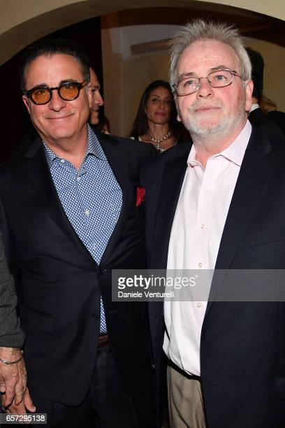 Andy Garcia and Bobby Moresco attend AMBI GALA In Honour Of Andy Garcia And Bobby Moresco on March 23 2017 in Rome Italy