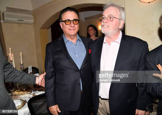 Andy Garcia and Bobby Moresco attends AMBI GALA In Honour Of Andy Garcia And Bobby Moresco on March 23 2017 in Rome Italy