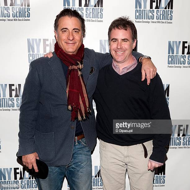 Andy Garcia and director/writer Adam Rodgers attend the 'At Middleton' screening presented by the New York Film Critics Series at AMC Empire 25...
