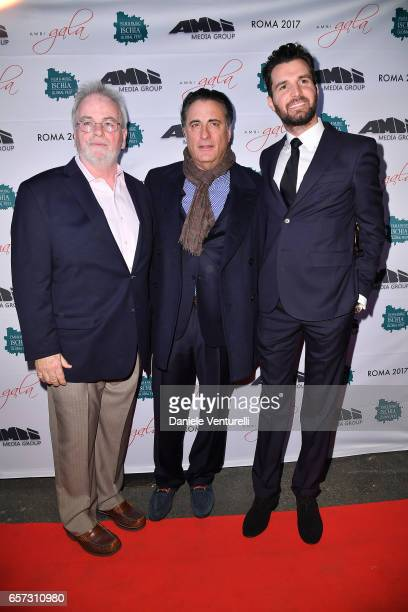Andy Garcia Bobby Moresco and producer Andrea Iervolino attend AMBI GALA In Honour Of Andy Garcia And Bobby Moresco on March 23 2017 in Rome Italy