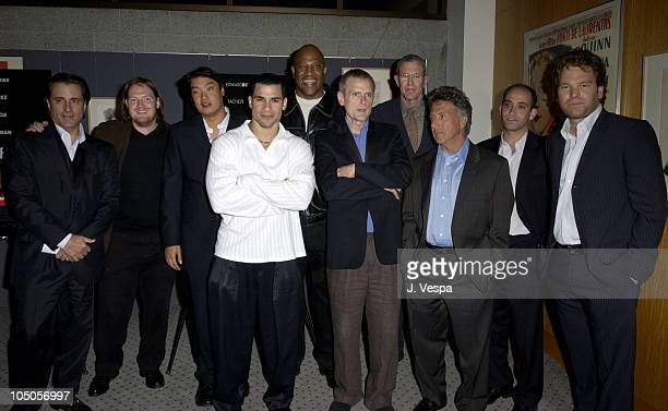 Andy Garcia Donal Logue Doug Jung Frankie G Tiny Lister James Foley Michael Paseonek Dustin Hoffman Marc Butan and Michael Ohoven