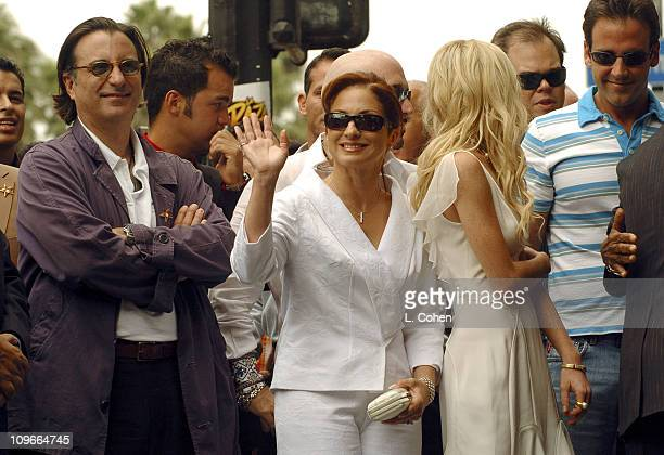 Andy Garcia Gloria Estefan Lindsay Lohan and Carlos Ponce