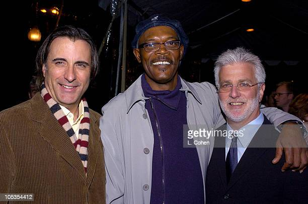 Andy Garcia Samuel L Jackson and Rob Friedman COO of Paramount