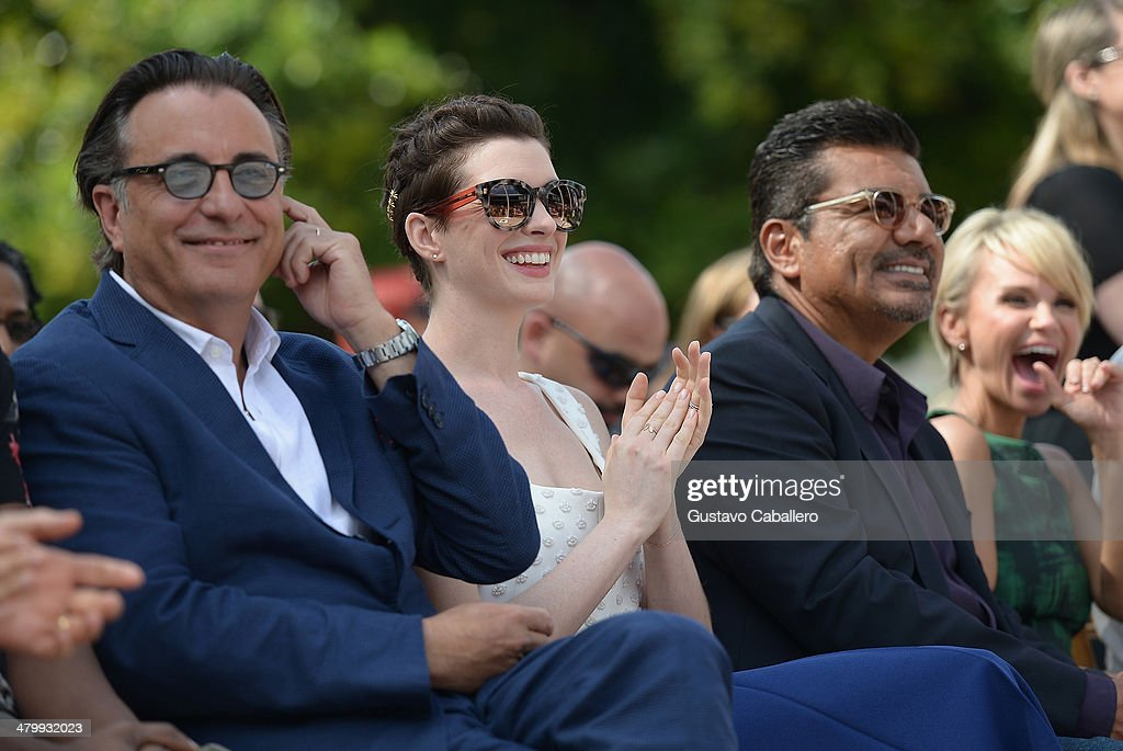 <a gi-track='captionPersonalityLinkClicked' href=/galleries/search?phrase=Andy+Garcia&family=editorial&specificpeople=156410 ng-click='$event.stopPropagation()'>Andy Garcia</a>,<a gi-track='captionPersonalityLinkClicked' href=/galleries/search?phrase=Anne+Hathaway+-+Actress&family=editorial&specificpeople=11647173 ng-click='$event.stopPropagation()'>Anne Hathaway</a> ;<a gi-track='captionPersonalityLinkClicked' href=/galleries/search?phrase=George+Lopez&family=editorial&specificpeople=202546 ng-click='$event.stopPropagation()'>George Lopez</a> and <a gi-track='captionPersonalityLinkClicked' href=/galleries/search?phrase=Kristin+Chenoweth&family=editorial&specificpeople=207096 ng-click='$event.stopPropagation()'>Kristin Chenoweth</a> attends Miami Walk Of Fame Inauguration at Bayside Marketplace on March 21, 2014 in Miami, Florida.