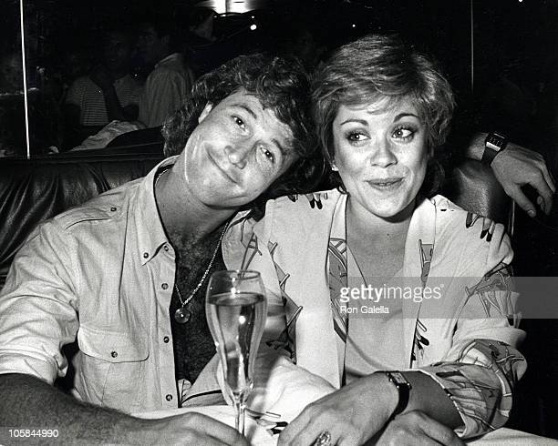 Andy Gibb and Donna Pescow during Maureen McGovern's Birthday Party July 27 1982 at The Company Restaurant in New York City New York United States