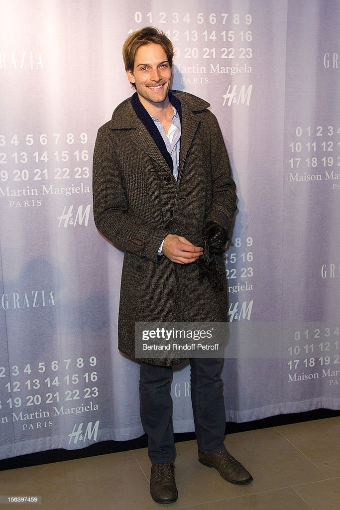 Andy Gillet attends the Maison Martin Margiela for H&M collection launch at H&M Champs Elysees on November 14, 2012 in Paris, France.