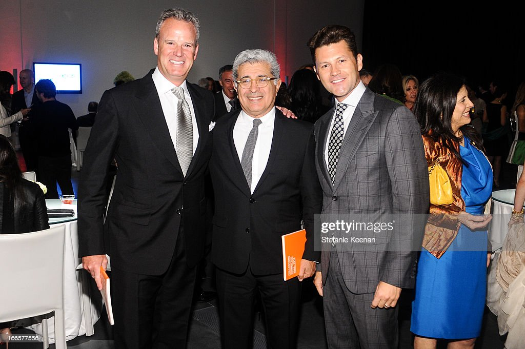 Andy Gordon, <a gi-track='captionPersonalityLinkClicked' href=/galleries/search?phrase=Terry+Semel&family=editorial&specificpeople=234789 ng-click='$event.stopPropagation()'>Terry Semel</a> and Carlo Brandon attend LACMA's 2013 Collectors Committee - Gala Dinner at LACMA on April 13, 2013 in Los Angeles, California.