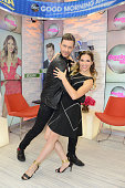 AMERICA Andy Grammar and Allison Holker who were eliminated from 'Dancing With the Stars' stop by GOOD MORNING AMERICA 11/3/15 airing on the ABC...