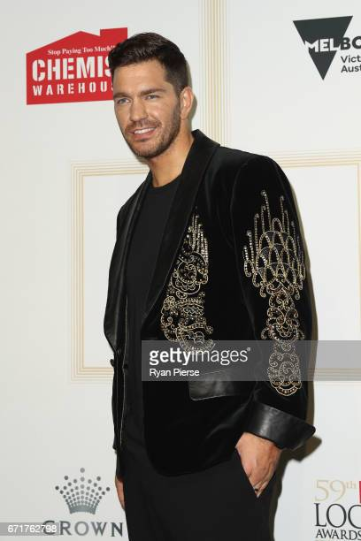 Andy Grammer arrives at the 59th Annual Logie Awards at Crown Palladium on April 23 2017 in Melbourne Australia