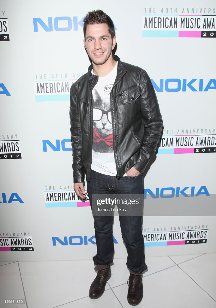 <a gi-track='captionPersonalityLinkClicked' href=/galleries/search?phrase=Andy+Grammer&family=editorial&specificpeople=7469992 ng-click='$event.stopPropagation()'>Andy Grammer</a> attends the 40th Anniversary American Music Awards Electronic Dance Music Celebration held at the Club Nokia on November 16, 2012 in Los Angeles, California.