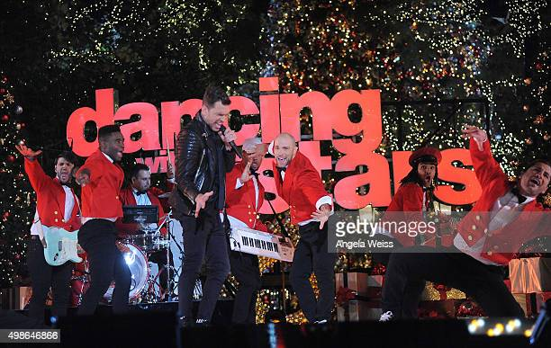 Andy Grammer performs at ABC's 'Dancing With The Stars' Season Finale hosted by The Grove at The Grove on November 24 2015 in Los Angeles California