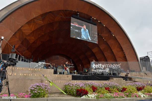 Andy Grammer performs at Mix 1041 MixFest at Hatch Shell on September 16 2017 in Boston Massachusetts