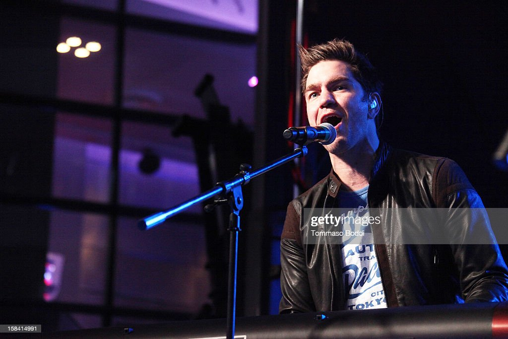 Andy Grammer performs at the Salvation Army's 3rd annual Rock the Red Kettle concert held at the Nokia Theatre L.A. Live on December 15, 2012 in Los Angeles, California.