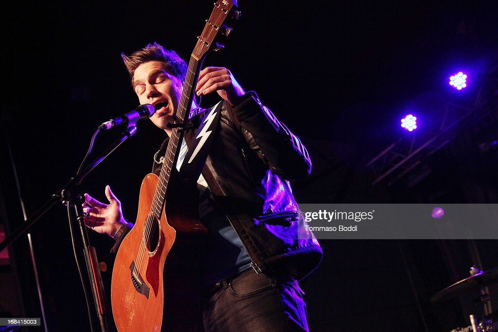 <a gi-track='captionPersonalityLinkClicked' href=/galleries/search?phrase=Andy+Grammer&family=editorial&specificpeople=7469992 ng-click='$event.stopPropagation()'>Andy Grammer</a> performs at the Salvation Army's 3rd annual Rock the Red Kettle concert held at the Nokia Theatre L.A. Live on December 15, 2012 in Los Angeles, California.