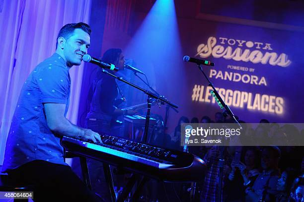 Andy Grammer performs onstage at Toyota Sessions ft Andy Grammer Powered By Pandora on October 29 2014 in New York City