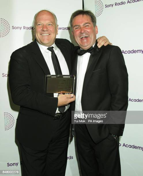 Andy Gray and Richard Keys with their Best Sports Programme award at the Sony Radio Academy Awards at the Grosvenor House hotel in central London