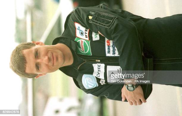 Andy Green driver of the Thrust SSC before a test run of the 'supersonic car' at Farnborough airfield The team led by current world land speed record...