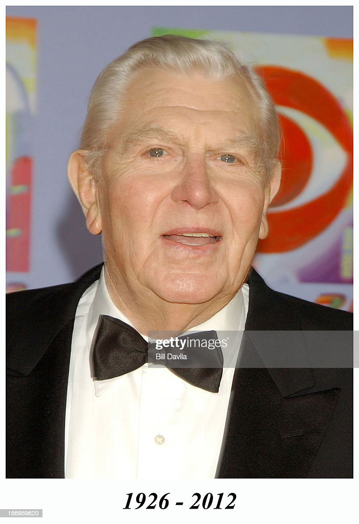 Andy Griffith during CBS at 75 - Commemorating CBS'S 75th Anniversary - Arrivals at The Hammerstein Theater on November 2, 2003 in New York City. Andy Griffith died in 2012.