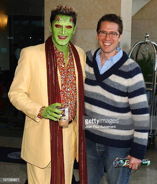 Andy Hallett in makeup as 'Lorne' and Alexis Denisof