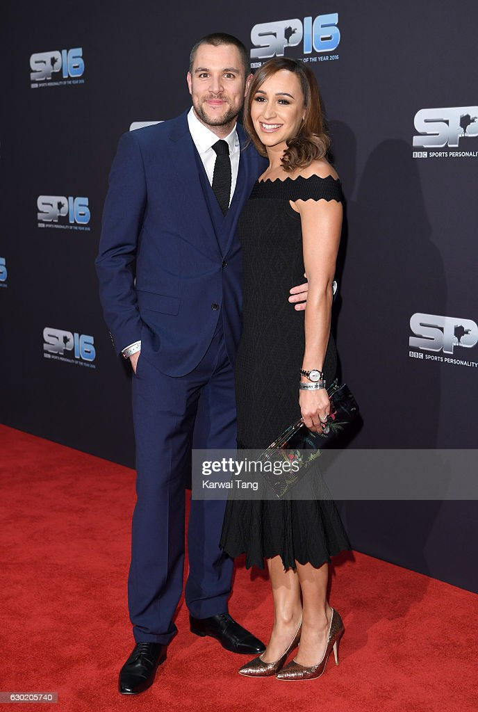 Andy Hill and Jessica Ennis-Hill attend the BBC Sports Personality Of The Year at Resorts World on December 18, 2016 in Birmingham, United Kingdom.