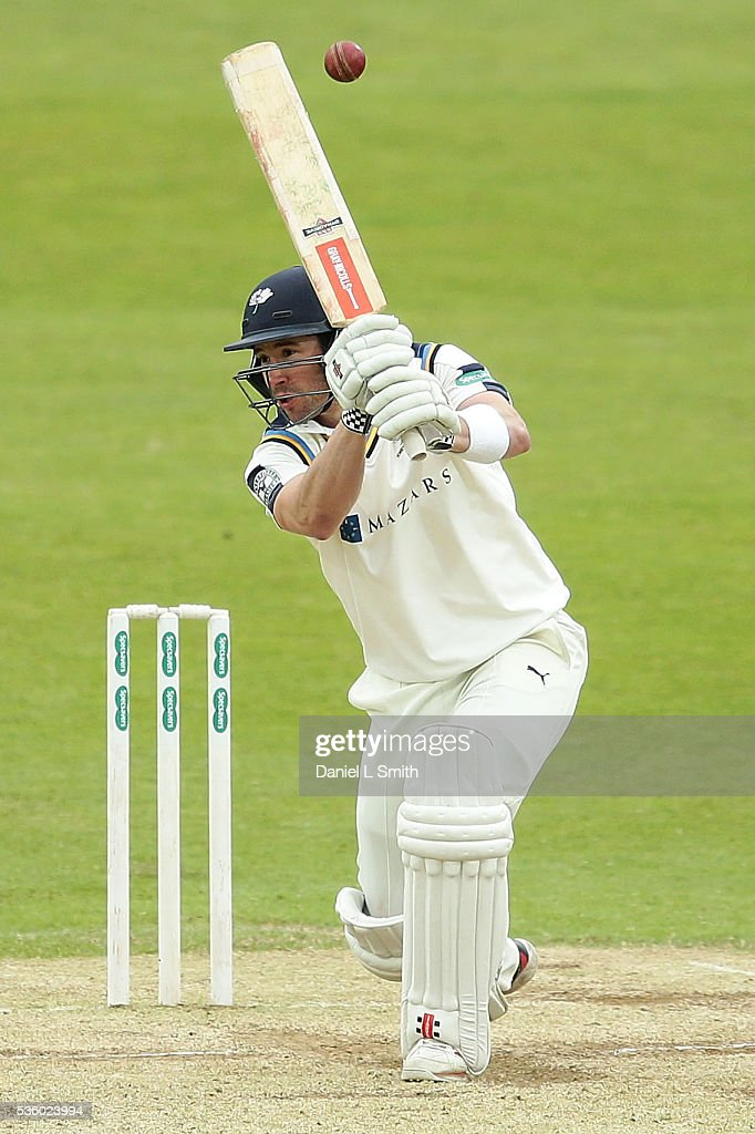 Andy Hodd of Yorkshire bats during day three of the Specsavers County Championship: Division One match between Yorkshire and Lancashire at Headingley on May 31, 2016 in Leeds, England.