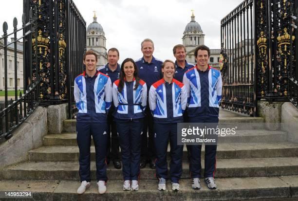 Andy Hunt the BOA Chief Executive Officer Dominic Mahony the Team GB Modern Pentathlon Team Leader Jan Bartu the Head Coach GB Pentathlon Nick...