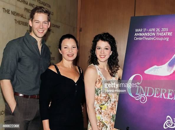Andy Huntington Jones Fran Drescher and Paige Faure attend the 'Rodgers Hammerstein's Cinderella' photo op held at the Ahmanson Theatre on March 17...