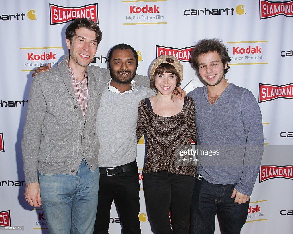 Andy Iruine, Deepak Chetty, Ashley Spillers and Alex Dobrenko attend the Slamdance Film Festival at Slamdance Public House on January 20, 2013 in Park City, Utah.
