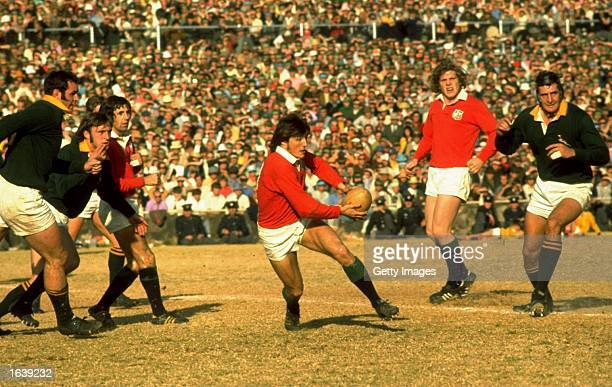 Andy Irvine of the British Lions in action during the Rugby Lions tour of South Africa South Africa Mandatory Credit Allsport UK /Allsport