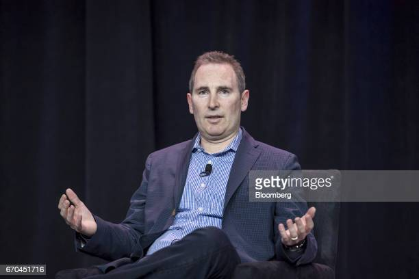Andy Jassy chief executive officer of web services at Amazoncom Inc speaks during the Amazon Web Services Summit in San Francisco California US on...
