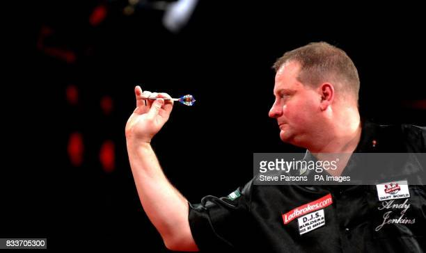 Andy Jenkins from Portsmouth during the PDC Ladbrokescom World Championships at Purfleet Essex