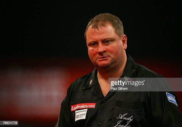 Andy Jenkins of England looks dejected during the second round match between Andy Jenkins of England and Alan Tabern of England during the 2008...