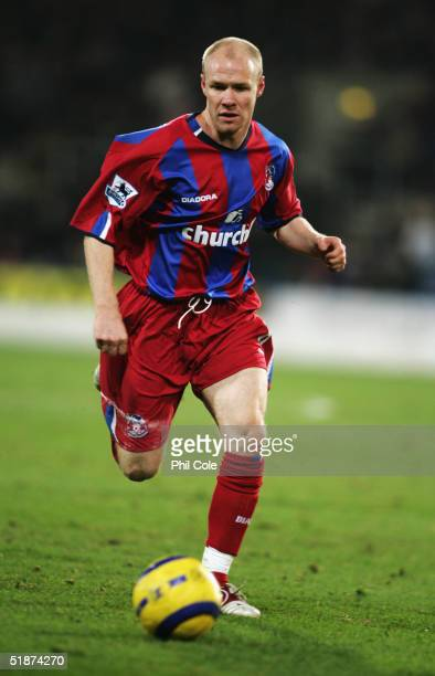 Andy Johnson of Crystal Palace in action during the Barclays Premiership match between Crystal Palace and Blackburn Rovers at Selhurst Park on...