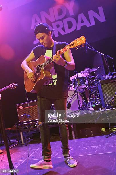 Andy Jordan performs on stage at O2 Islington Academy on June 27 2014 in London United Kingdom