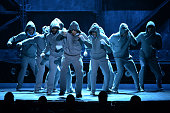 """Andy Karl and the cast of """"Rocky"""" perform onstage during the 68th Annual Tony Awards at Radio City Music Hall on June 8 2014 in New York City"""