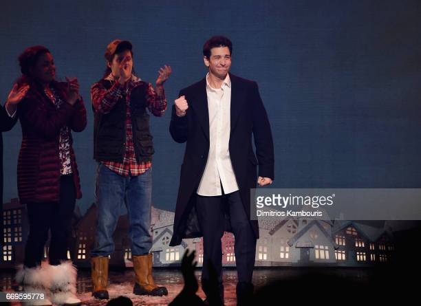 Andy Karl performs onstage at the 'Groundhog Day' Broadway Opening Night at August Wilson Theatre on April 17 2017 in New York City