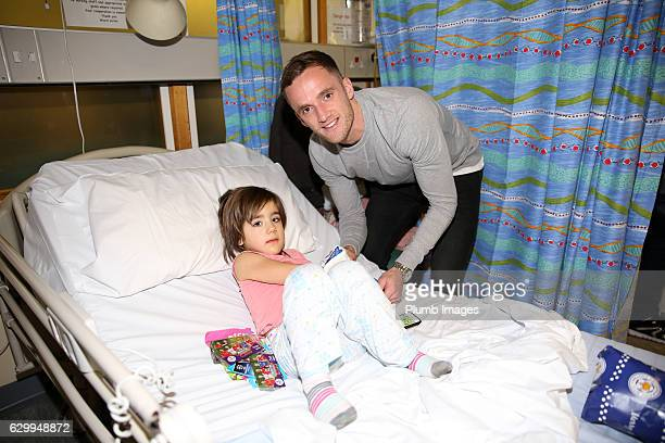 Andy King during the Leicester City Players Deliver Christmas Presents to Patients at Leicester Royal Infirmary on December 15 2016 in Leicester...