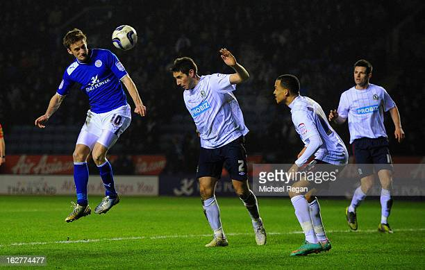 Andy King of Leicester scores to make it 30 during the npower Championship match between Leicester City and Blackburn Rovers at The King Power...