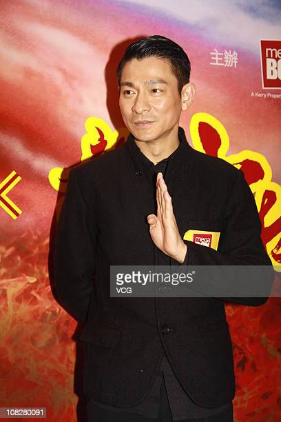 Andy Lau attends a press conference to promote the new film 'Shao Lin' at a cinema on January 23 2011 in Hong Kong China
