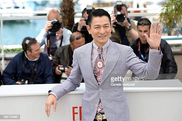 Andy Lau attends the photocall for 'Blind Detective' during the 66th Annual Cannes Film Festival at Palais des Festivals on May 20 2013 in Cannes...