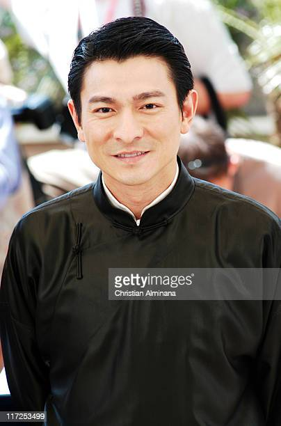 Andy Lau during 2004 Cannes Film Festival House Of Flying Daggers Photocall at Palais du Festival