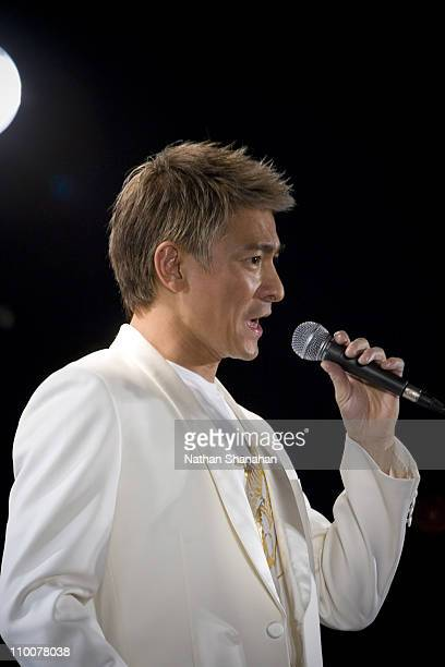 Andy Lau during Andy Lau Performs the Theme Song from his New Film 'All About Love' at Tower Records Shibuya July 25 2006 at Tower Records Shibuya in...