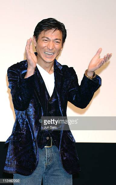 Andy Lau during 'Lovers' Tokyo Premiere Inside at NHK Hall in Tokyo Japan