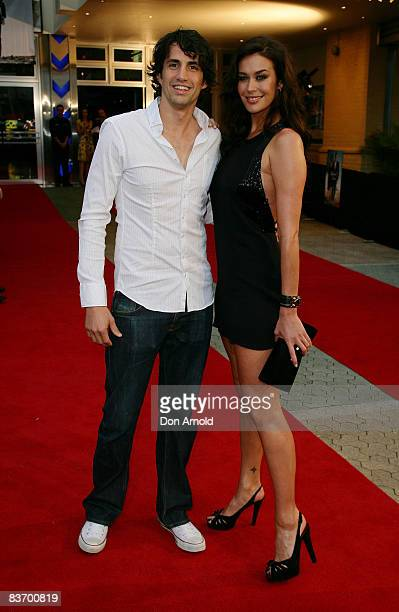 Andy Lee and Megan Gale arrive for the Australian premiere of 'Quantum of Solace' at the Hoyts Cinema in the Entertainment Quarter on November 15...