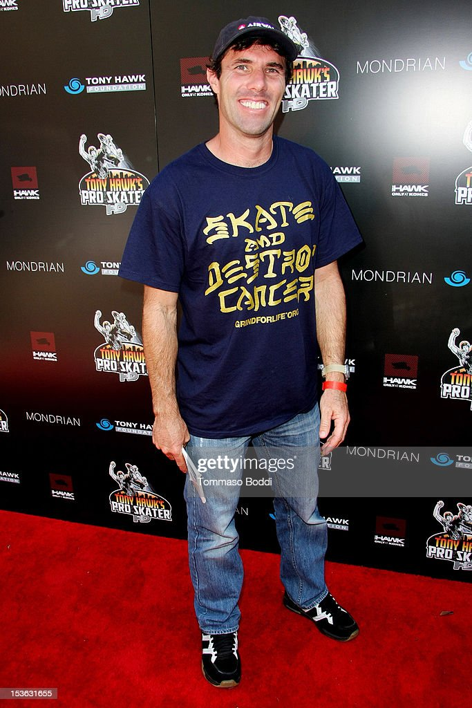 Andy Macdonald attends the 9th annual Tony Hawk Stand Up For Skateparks Benefit held at Ron Burkle's Green Acres Estate on October 7, 2012 in Beverly Hills, California.
