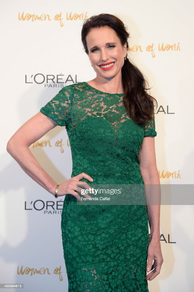 Andy MacDowell attends L'Oreal Paris' Women of Worth 2013 at The Pierre Hotel on December 3, 2013 in New York City.