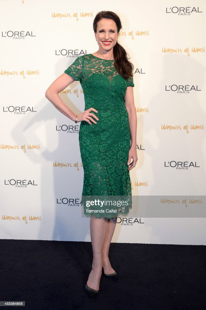 Andy MacDowell attends L'Oreal Paris' Women of Worth 2013 at The Pierre Hotel on December 3 2013 in New York City