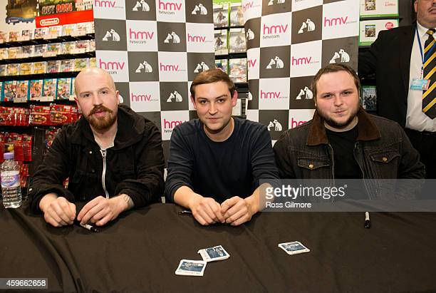 Andy MacFarlane James Graham and Mark Devine of The Twilight Sad meet fans and signs copies of their album 'Nobody Wants to Be Here and Nobody Wants...